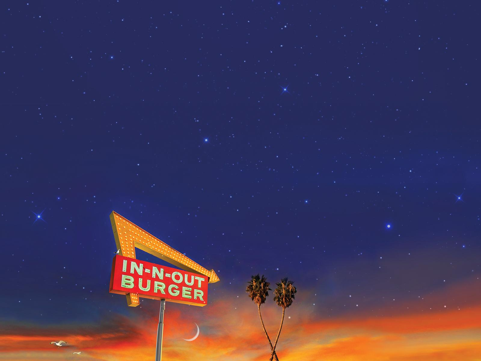 Download Wallpaper - Crossed Palms - 1600x1200 - In-N-Out Burger