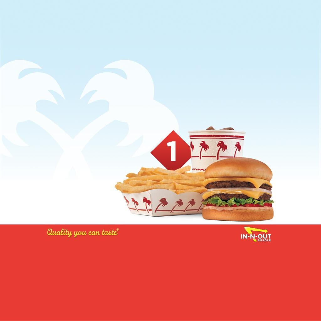 Download Wallpaper - Combo #1 Crossed Palms - iPad - In-N-Out Burger