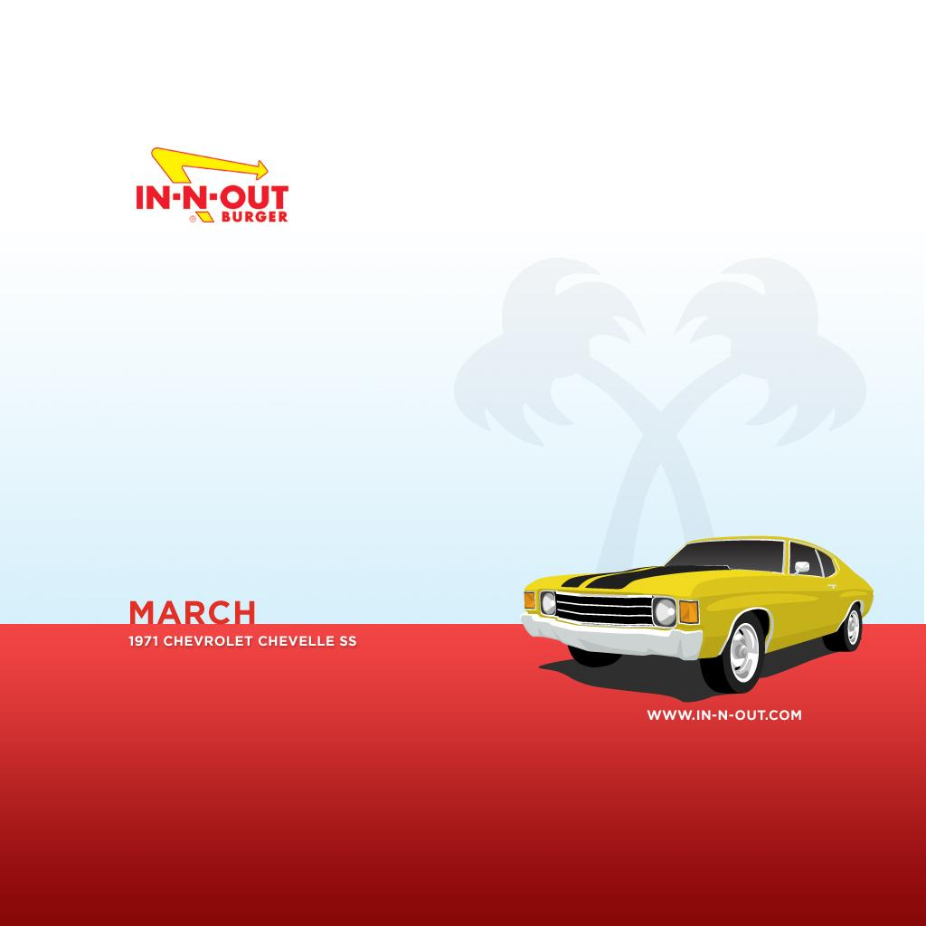 Download Wallpaper - Monthly Hotrods - March - iPad - In-N-Out Burger