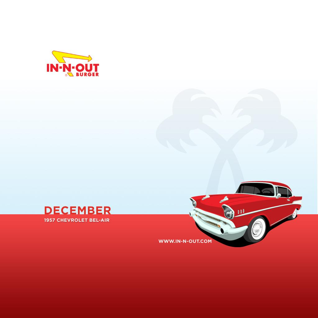 Download Wallpaper - Monthly Hotrods - February - iPad - In-N-Out Burger