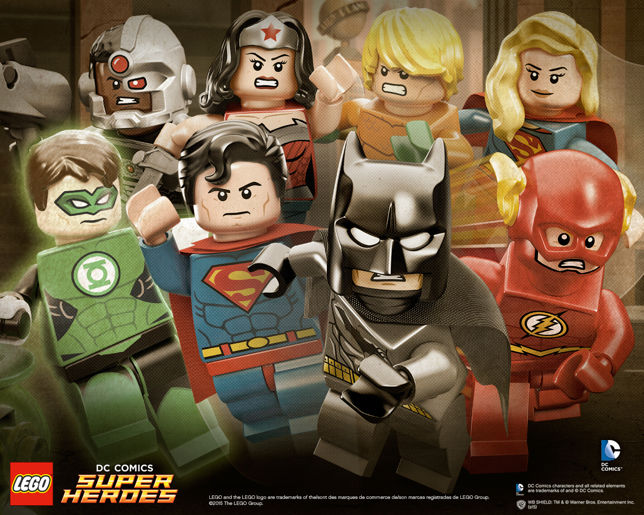 Hero Line-Up - Wallpapers - LEGO® DC Comics™ Super Heroes - LEGO.com GB