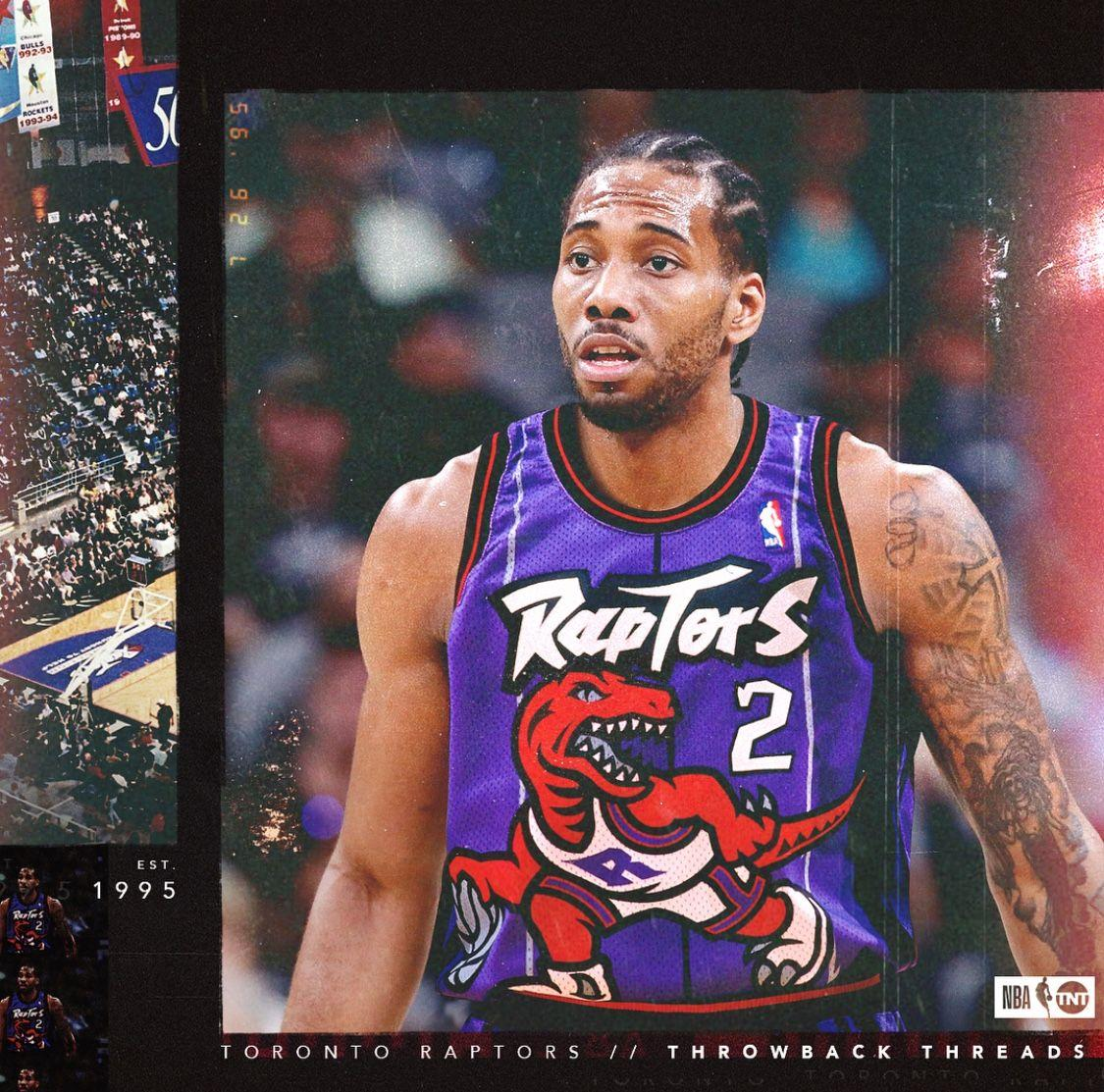 Kawhi Leonard Toronto Raptors Throwback threads 2018