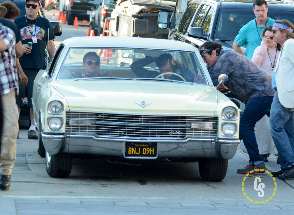 Once Upon A Time in Hollywood Set Photos with Pitt, DiCaprio, & Pacino