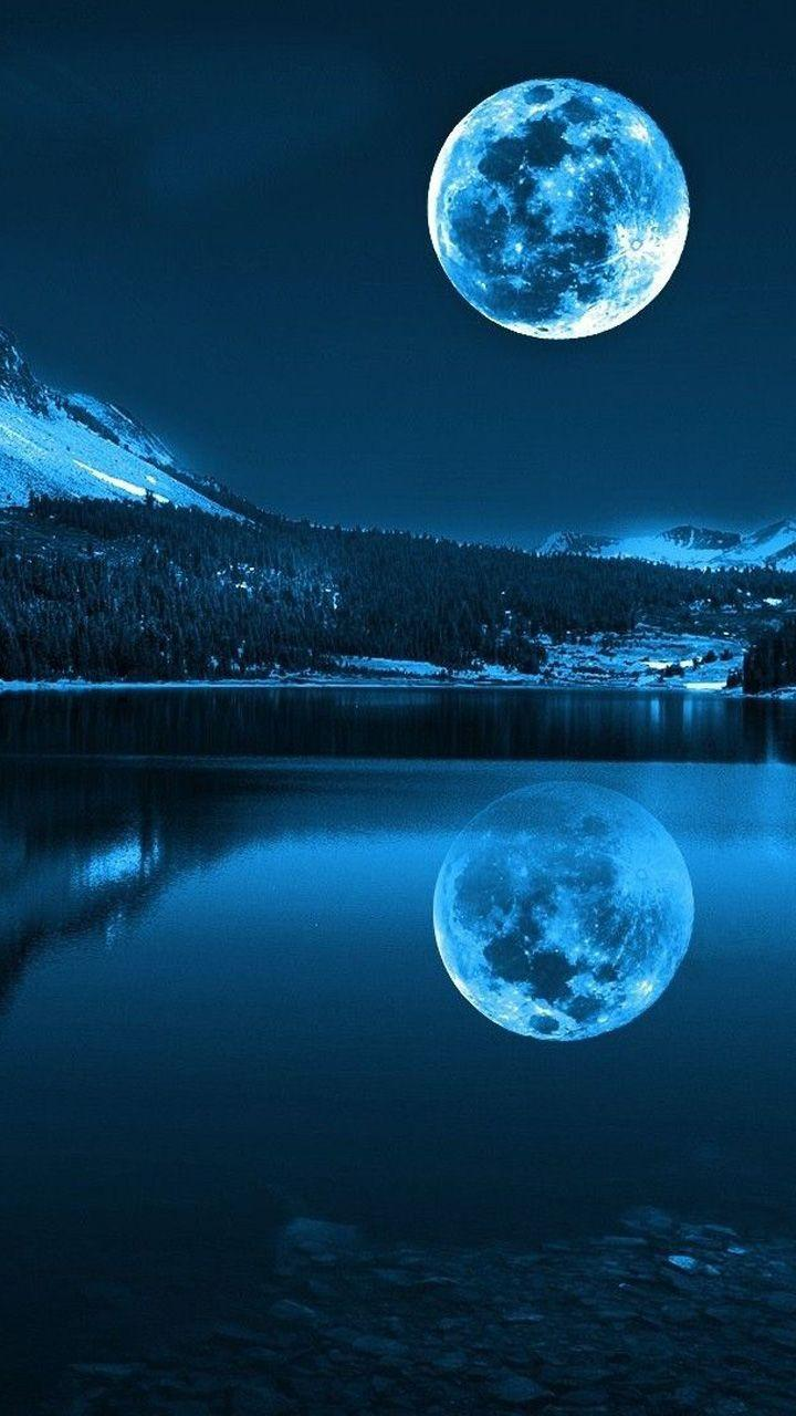 Moon Scenery Mobile Wallpapers Wallpaper Cave