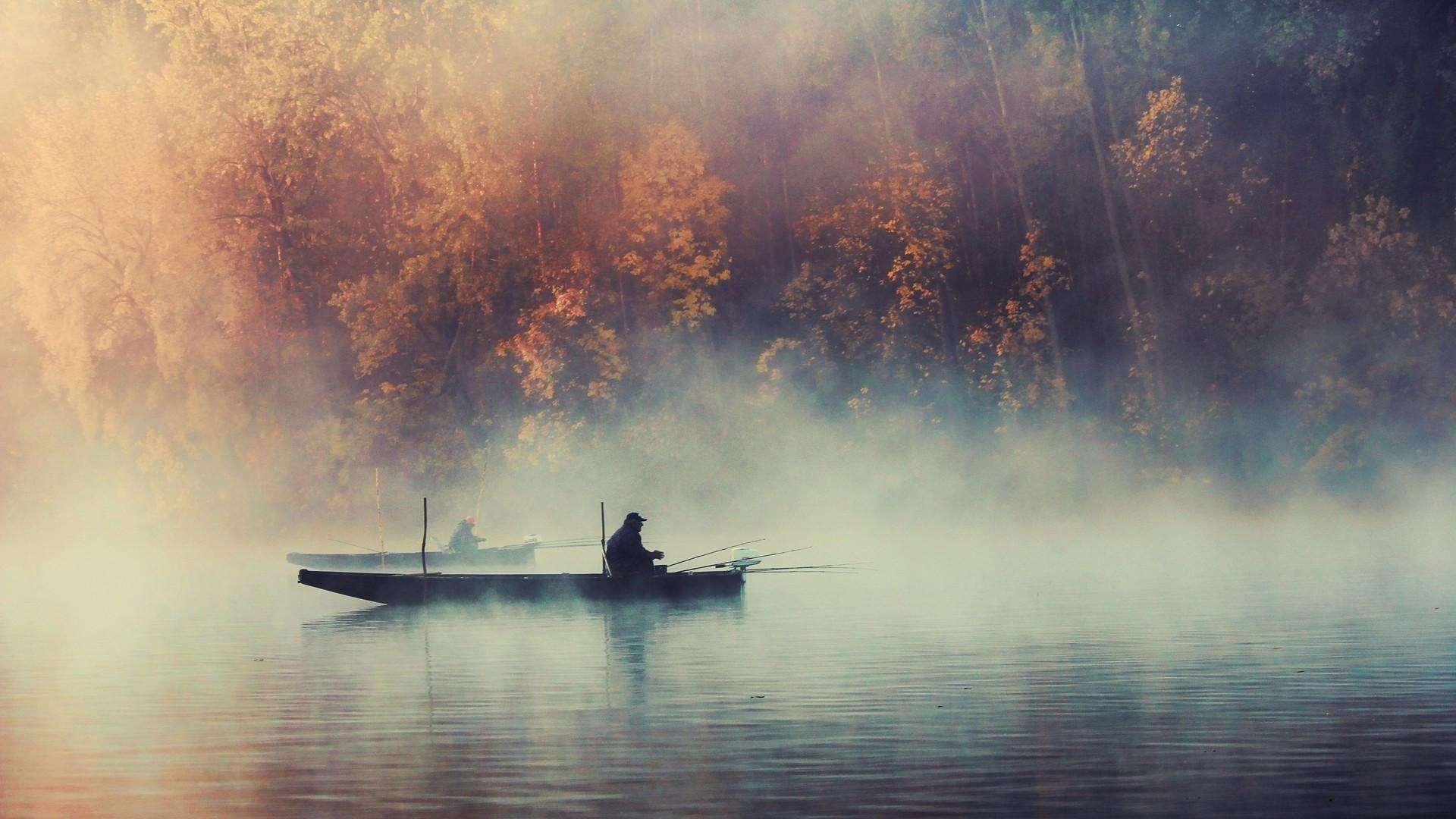 Fog mist boats lakes wallpaper | AllWallpaper.in #13605 | PC | en