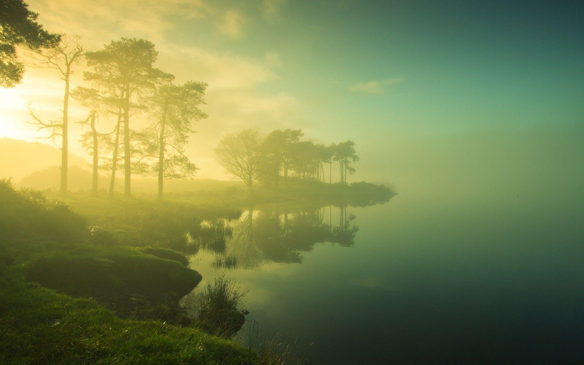 Morning Mist On The Lake Wallpaper #19371 | Chainimage