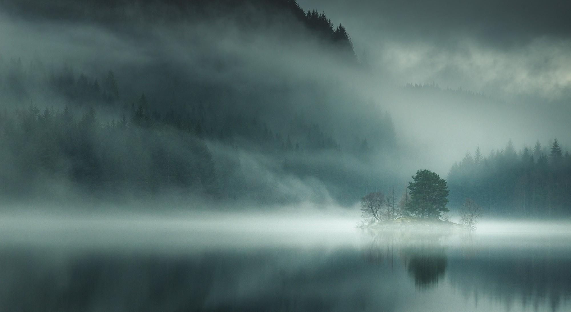 nature, Landscape, Lake, Mist, Mountain, Morning, Forest, Scotland ...