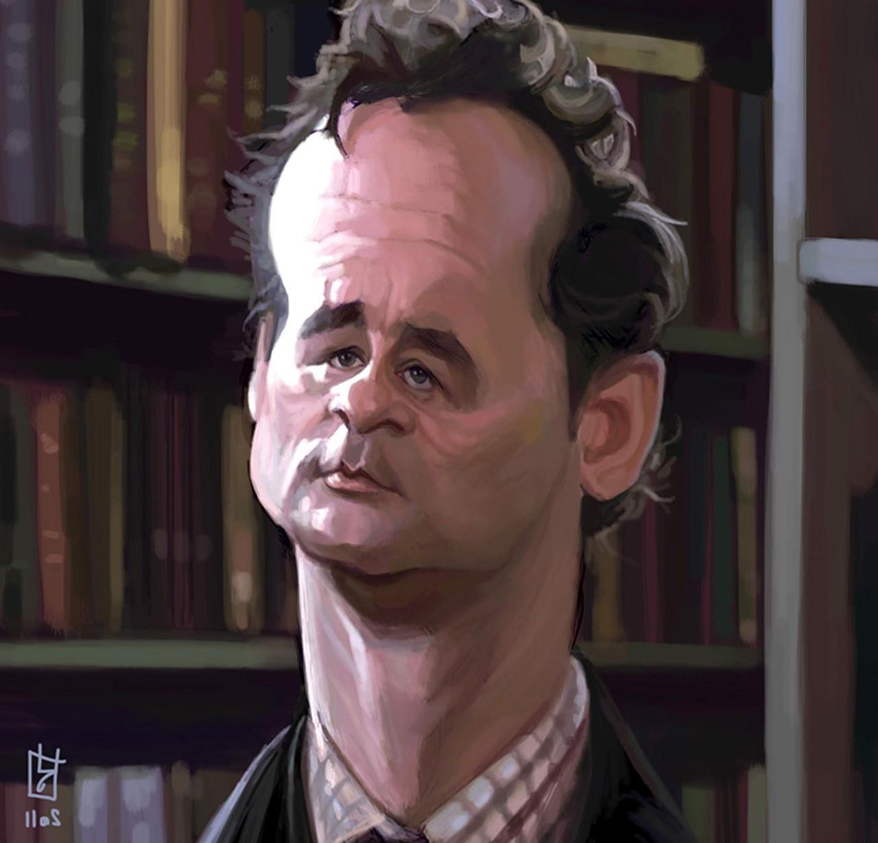 artistic bill murray artwork caricature wallpaper and background