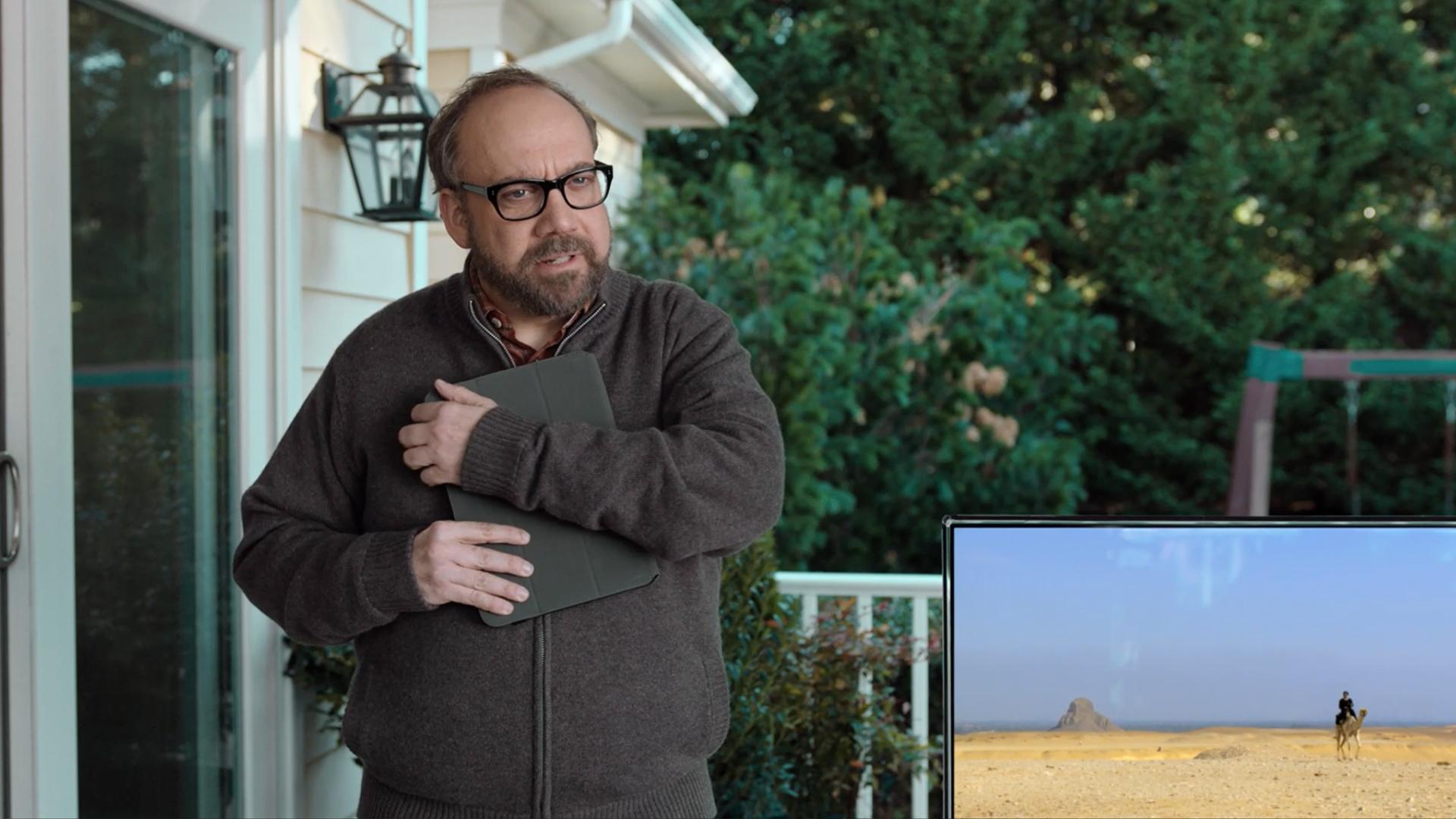 Ad of the Day: Paul Giamatti Battles a Family of Movie Buffs in His