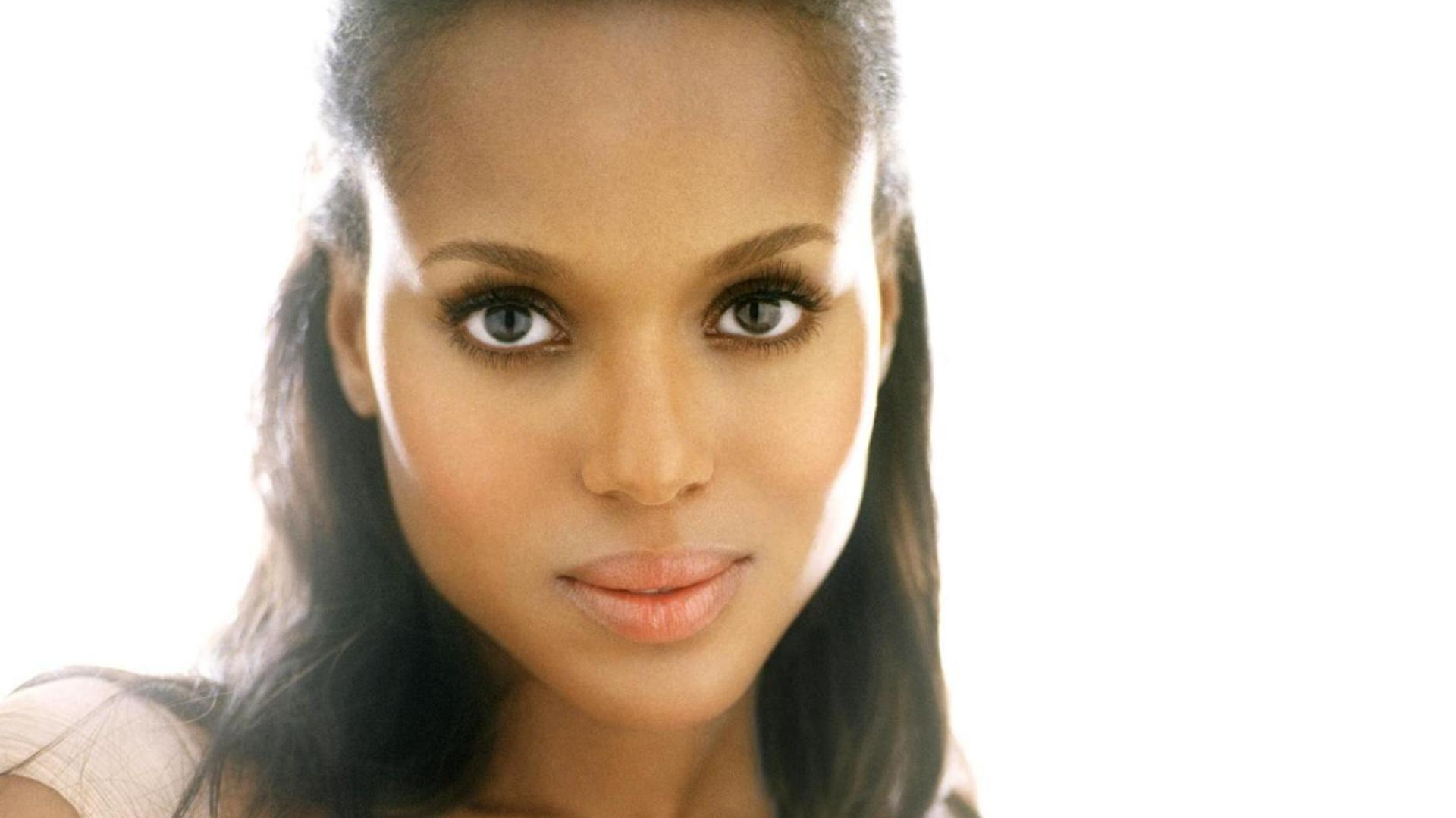 Brown actors faces white backgrounds kerry washington wallpapers