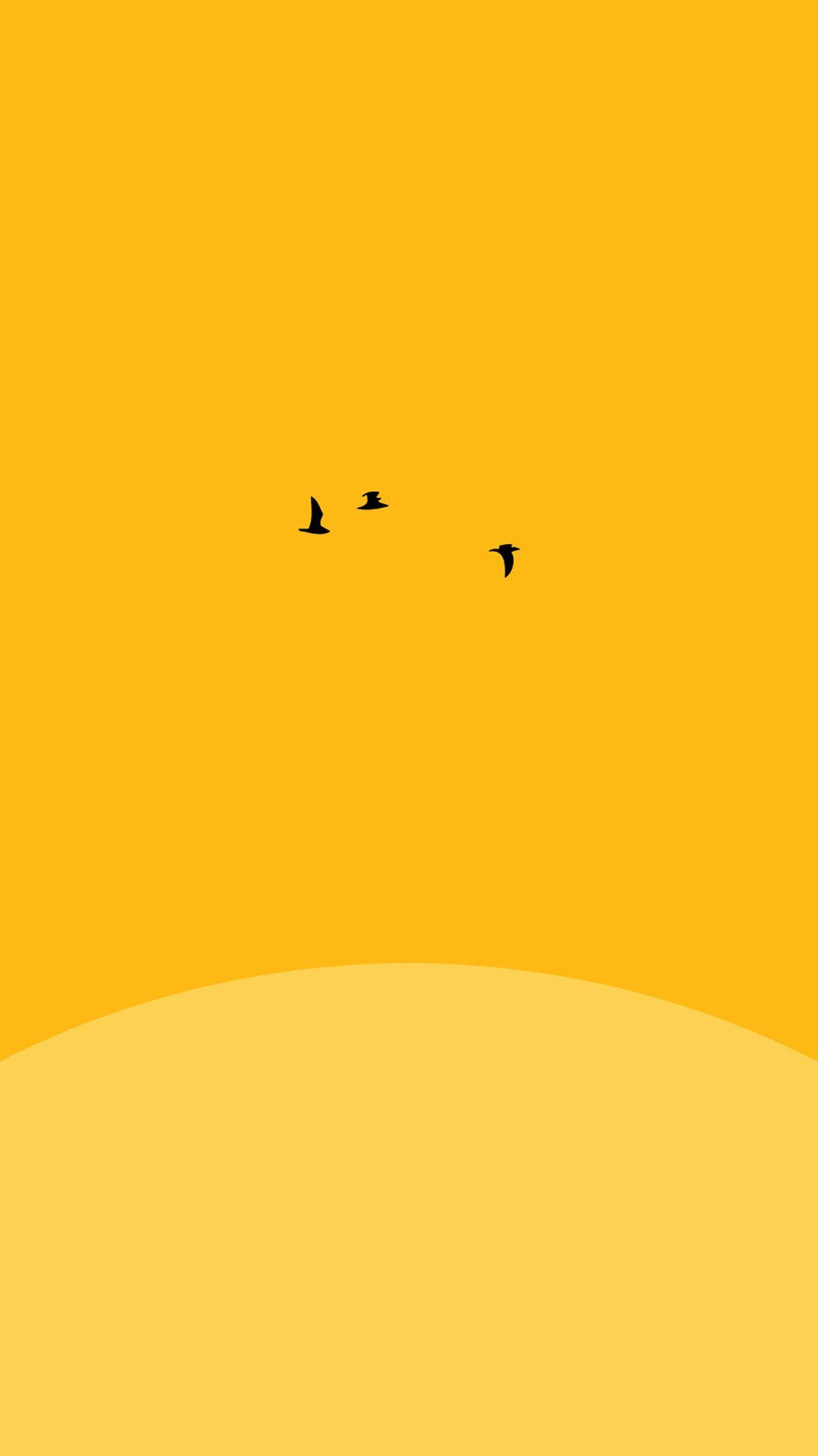 Yellow Aesthetic Sunset Wallpapers