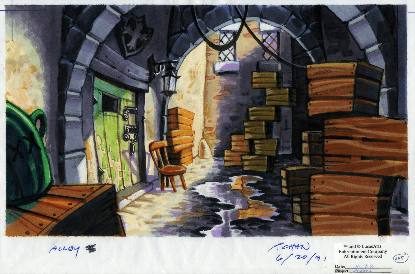 Concept Art from Monkey Island 2: LeChuck's Revenge