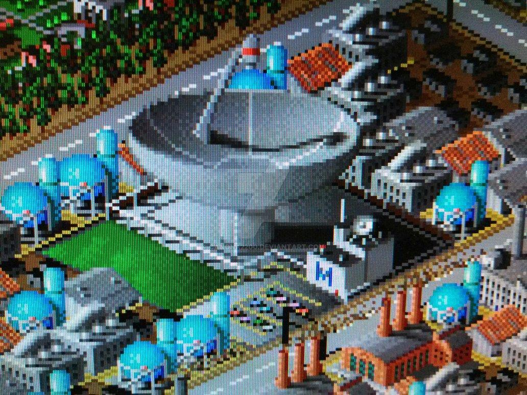 SIMCITY 2000 Microwave Power Plant by canona2200