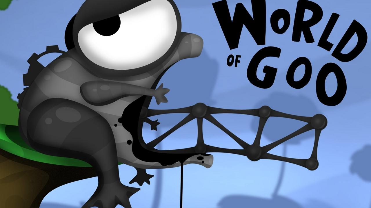 Download wallpapers 1280x720 world of goo, frog, eye, goo hd, hdv