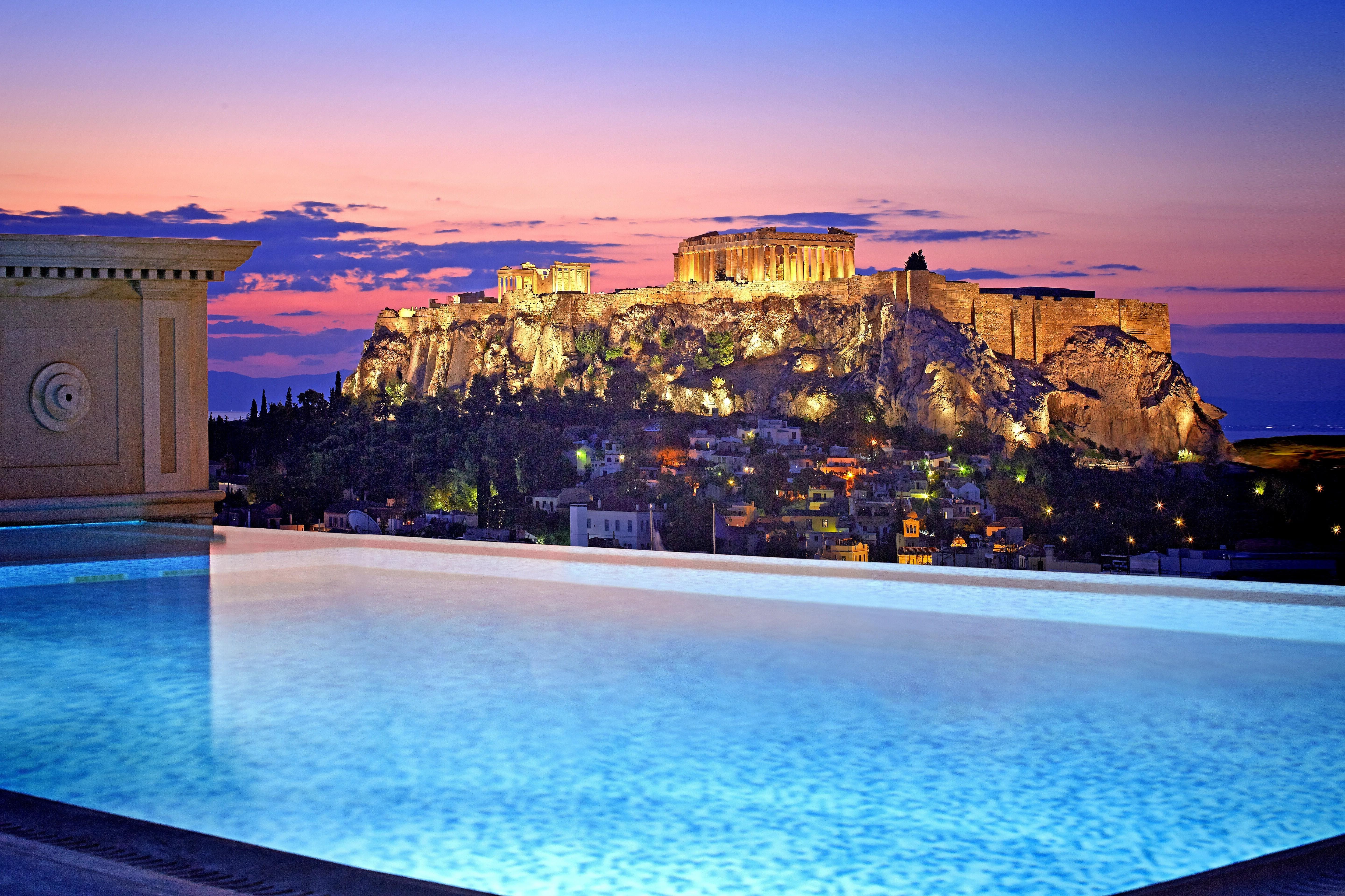Athens, Greece, City, House, Building, Sunset, Evening, Sky, Clouds ...