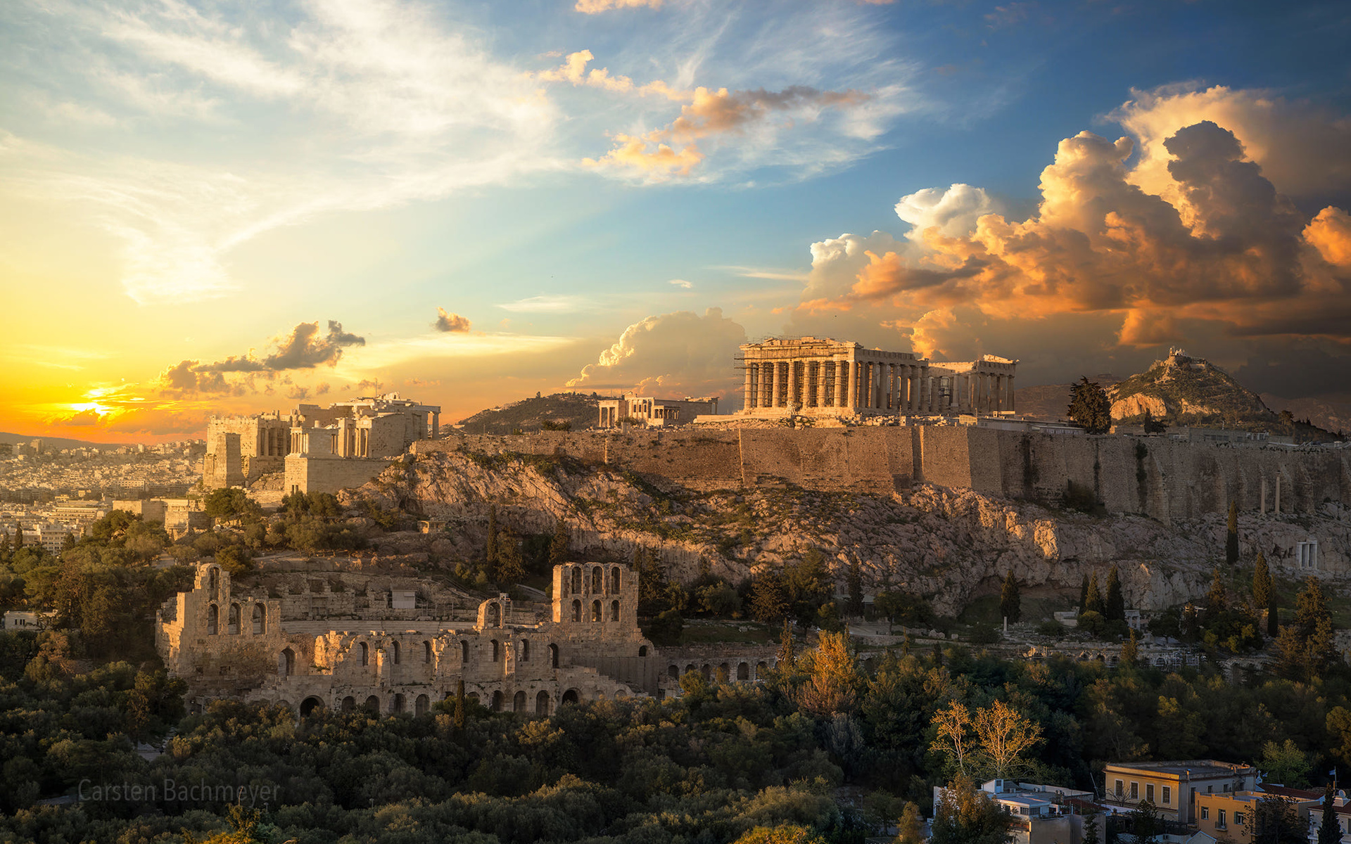 Download wallpapers Acropolis of Athens, greek architecture, greek ...