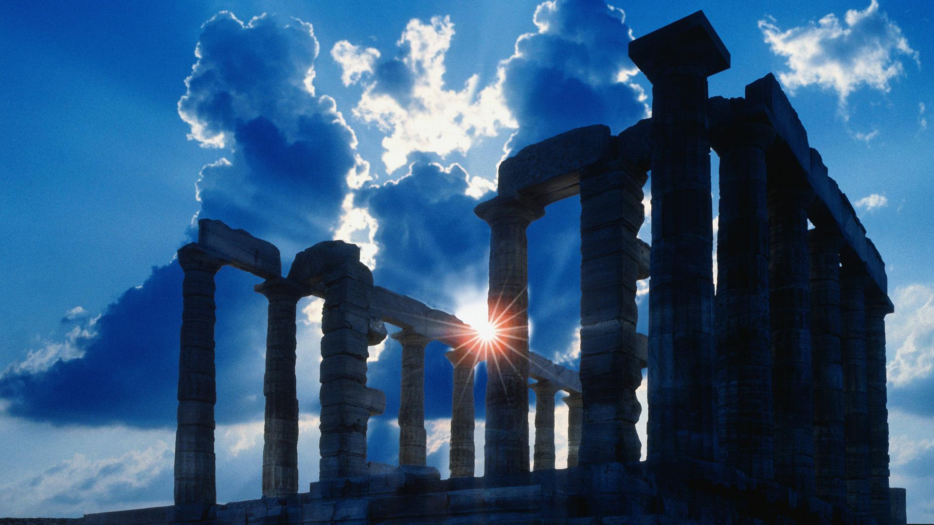 Ancient temple in Athens wallpapers and images - wallpapers ...