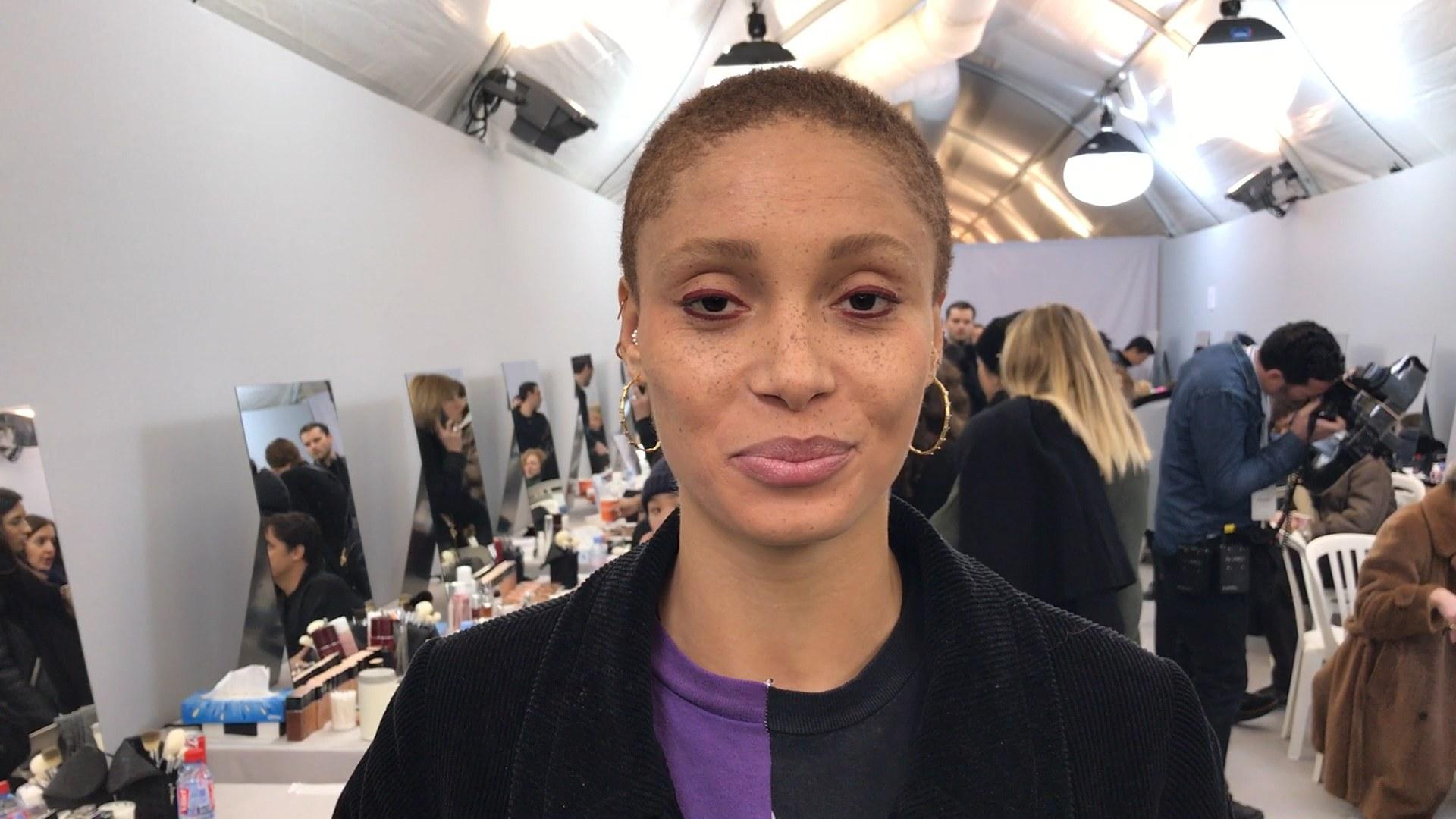 Backstage Hair and Makeup Video at Dior With Adwoa Aboah, Peter