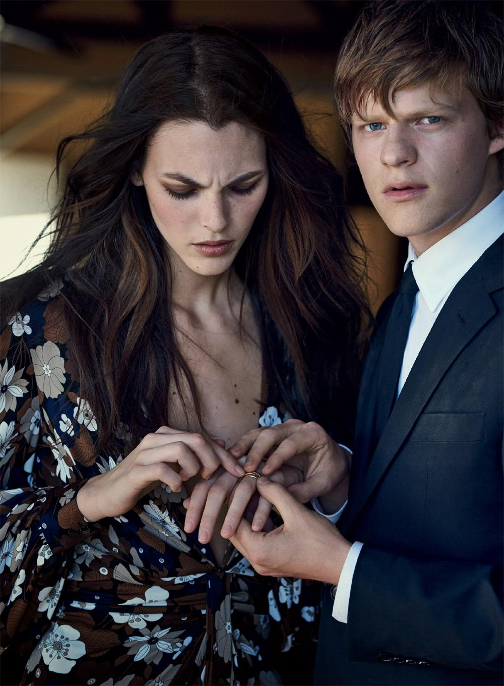 Lucas Hedges image Lucas Hedges and Vittoria Ceretti