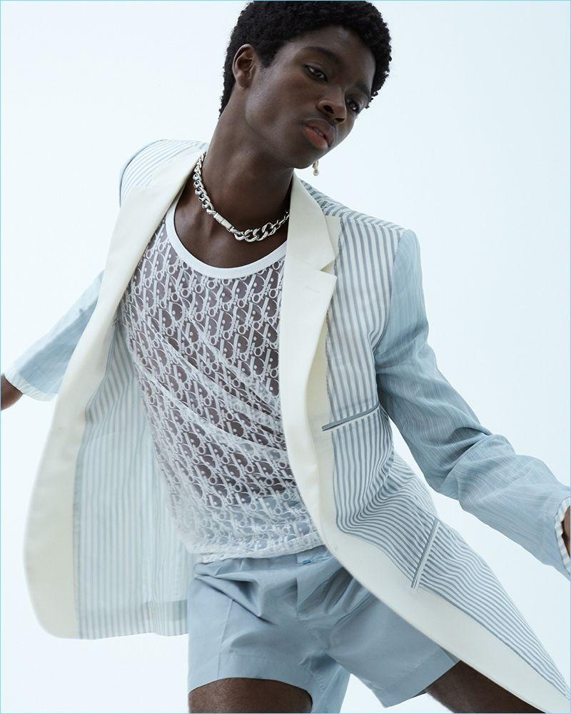 Sharp Relief: Alton Mason Dons Spring '19 Looks for WWD | Idead ...