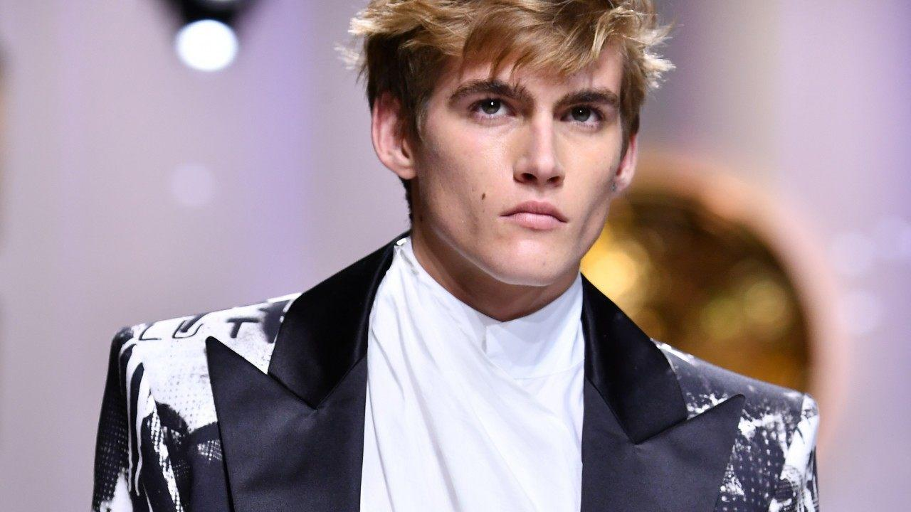 Proud Mom Cindy Crawford Applauds Son Presley Gerber at Paris Fa