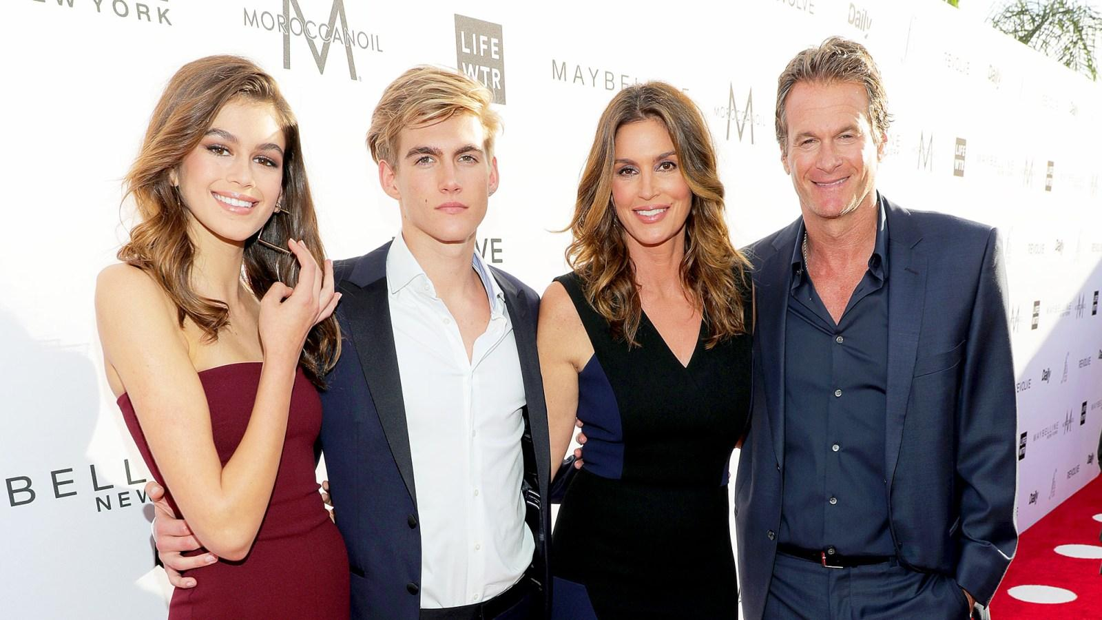 Cindy Crawford and Her Family Turned It Out For the Fashion L.A. Awards