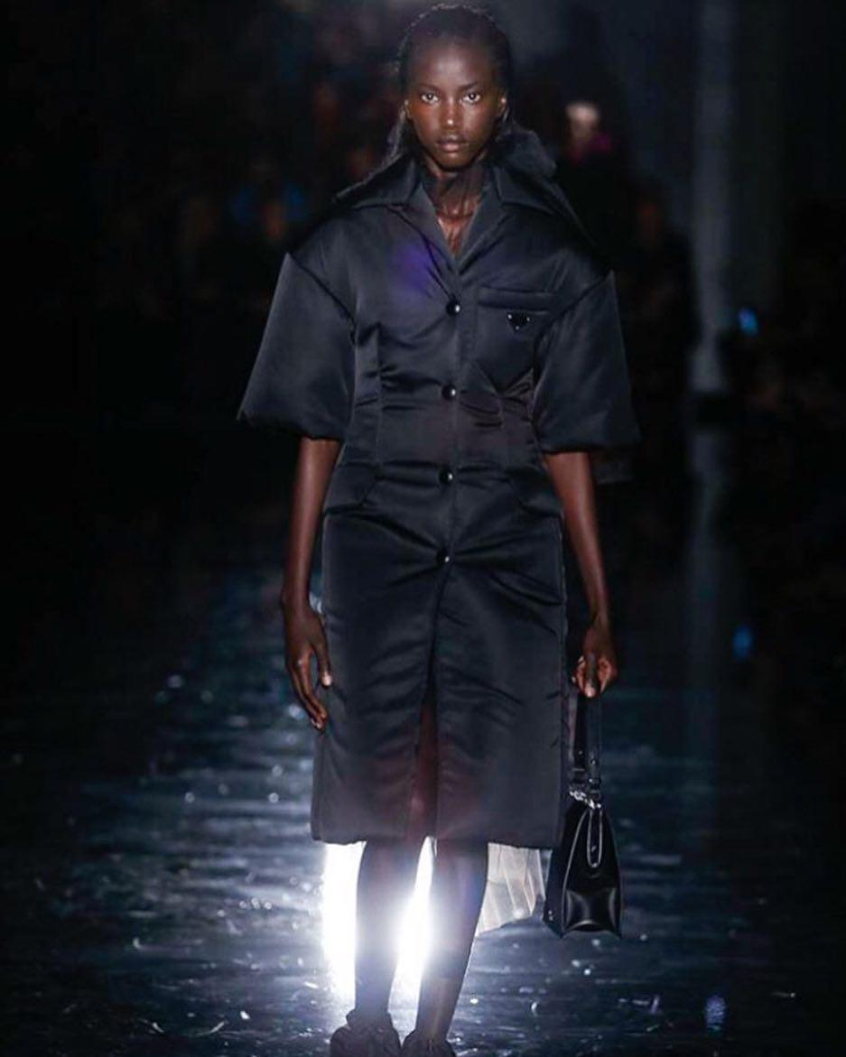 Summary -> Anok Yai Becomes The First Black Model To Open The Prada