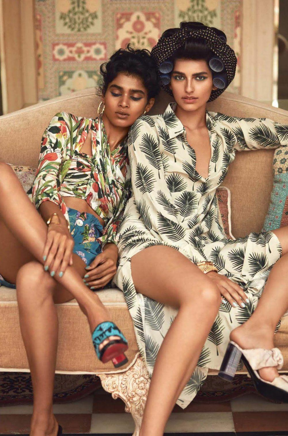 Saffron Vadher & Radhika Nair Wear Opulent Beauty Lensed By Greg ...