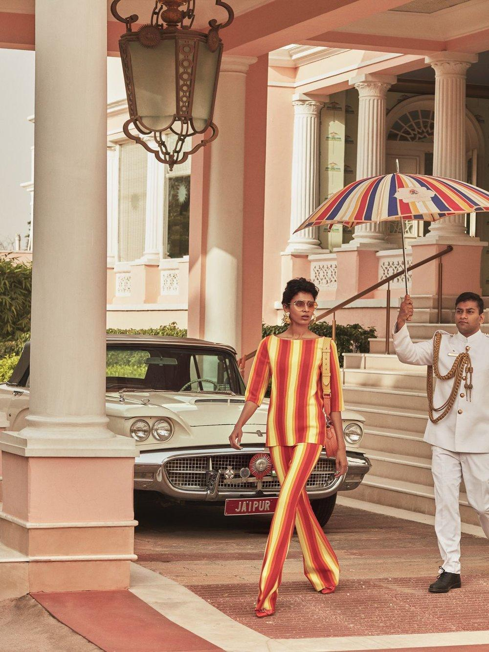 Saffron Vadher & Radhika Nair lensed by Greg Swales for Vogue India ...