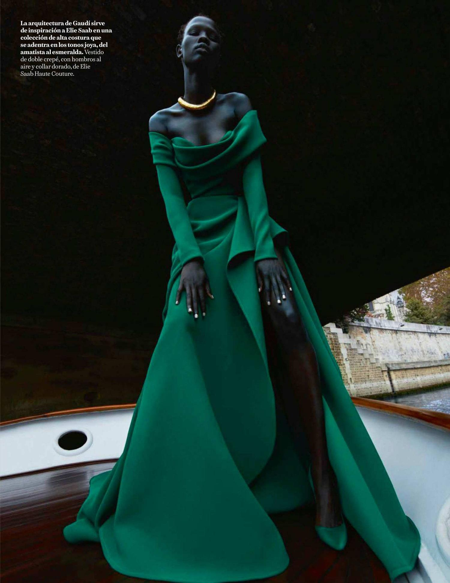 Shanelle Nyasiase Is Green Goddess Elegance By Txema Yeste For Vogue ...