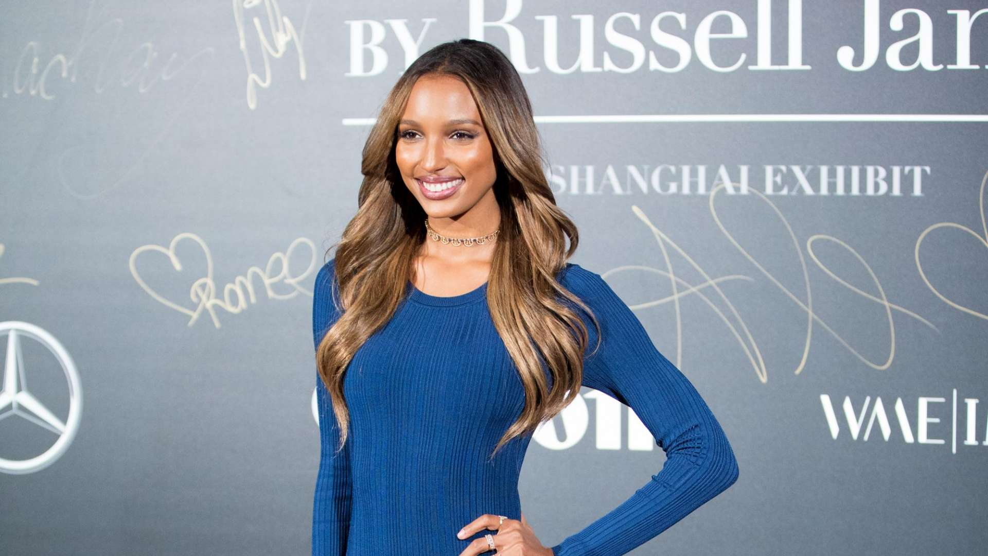 Jasmine Tookes MercedesBenz Backstage Secrets in, 20 Nov 2017