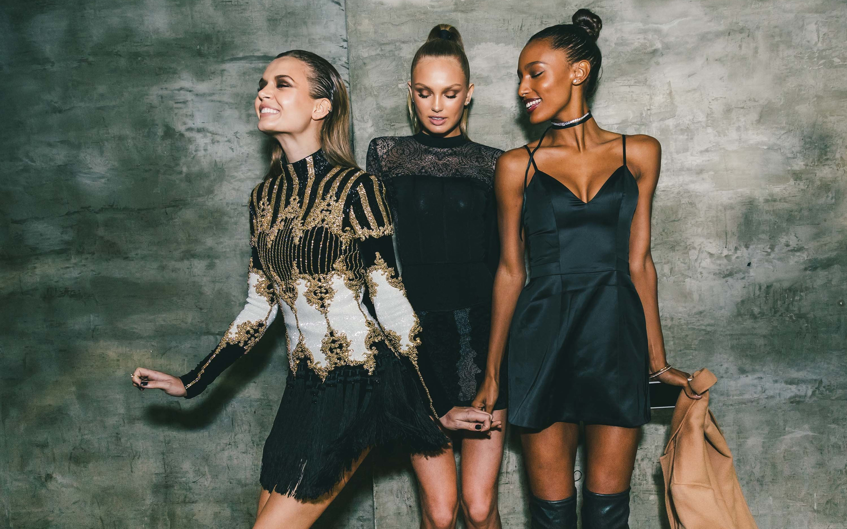 Download wallpapers Josephine Skriver, Romee Strijd, Jasmine Tookes