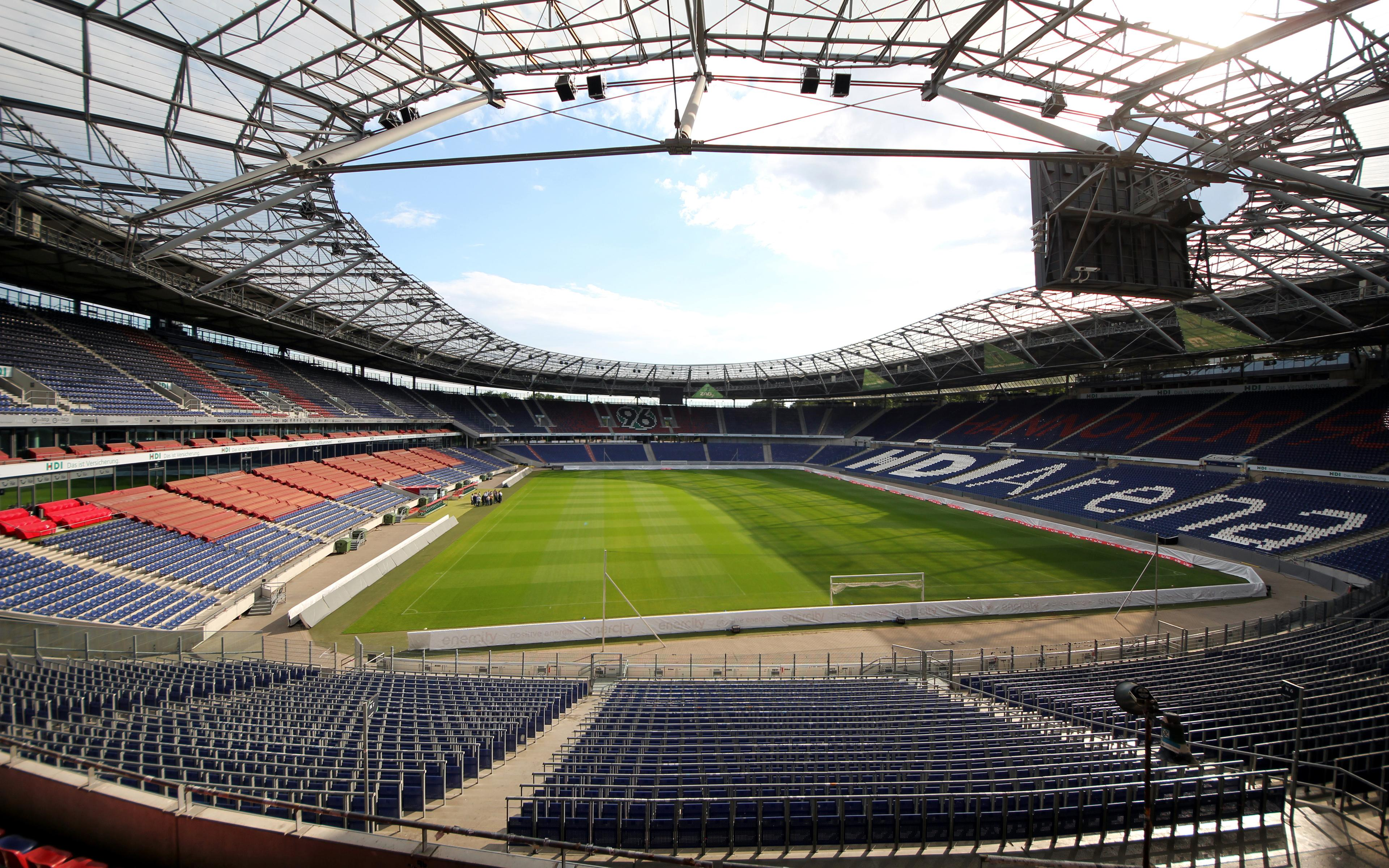 Download wallpapers HDI Arena, Hannover 96, football stadium, 4k