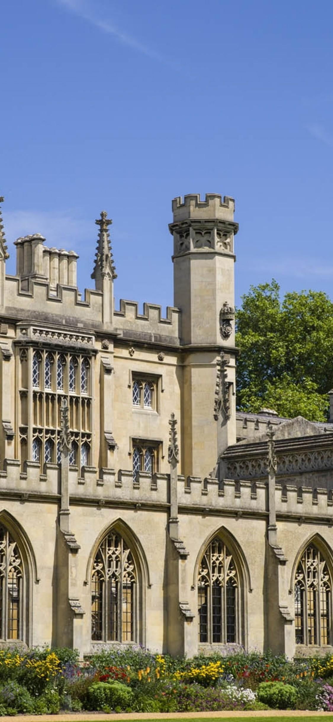 Download 1125x2436 Cambridge University, Old Architecture Wallpapers ...