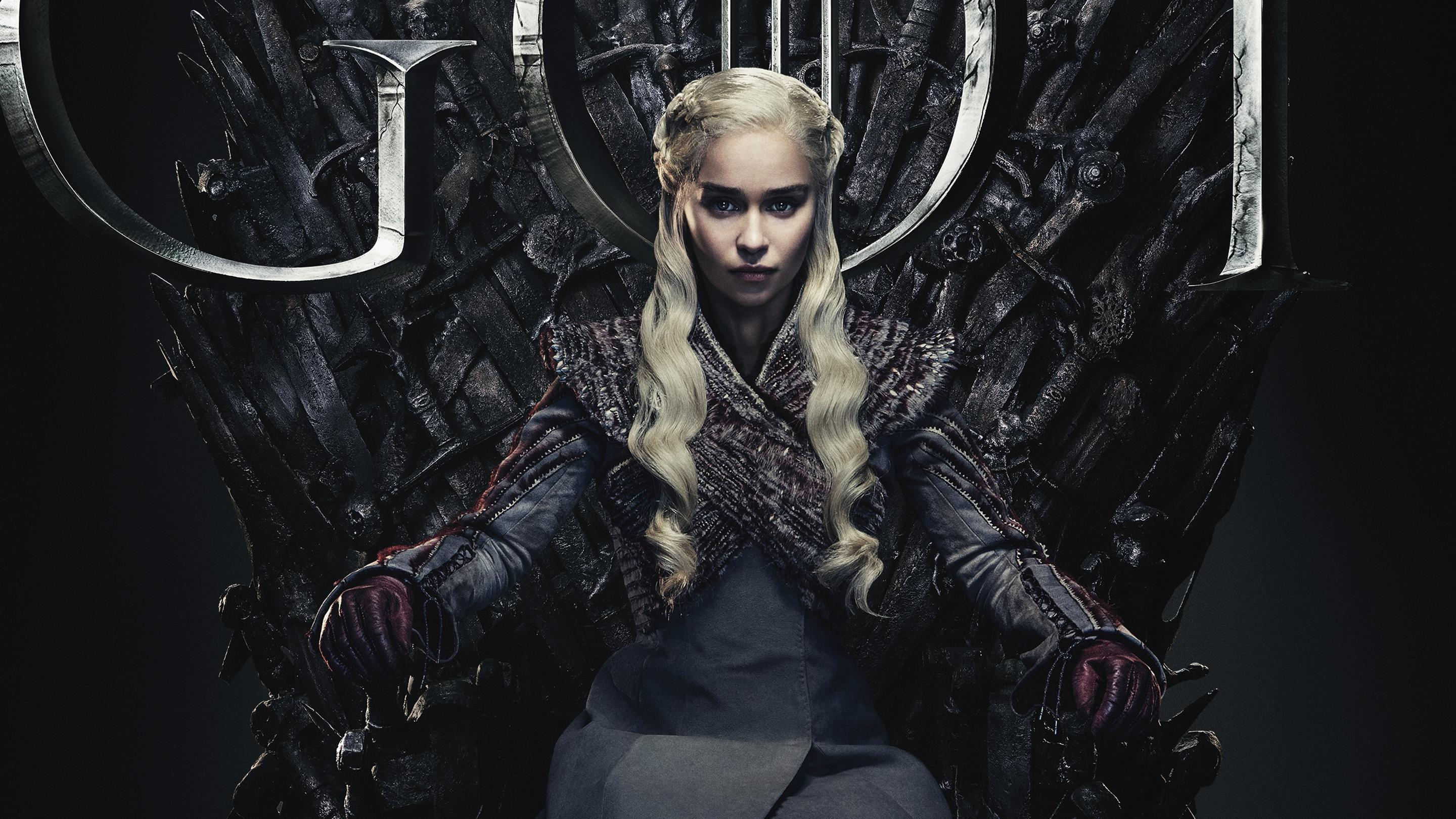 Emilia Clarke in Game of Thrones Final Season 8 2019 Wallpapers
