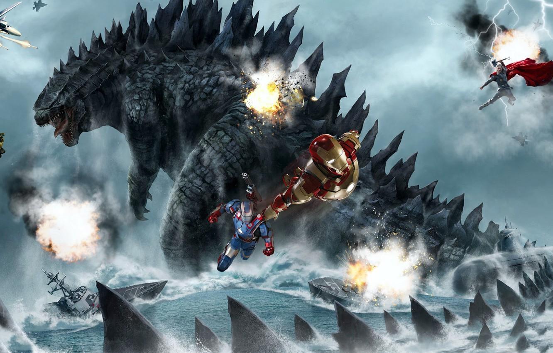 Fire Godzilla Wallpapers - Wallpaper Cave