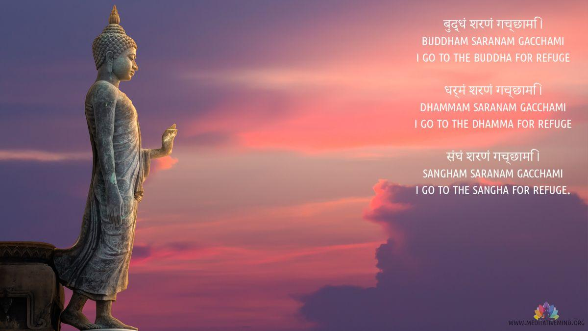 Buddham Sharanam Gacchami Mantra Wallpapers and Meaning