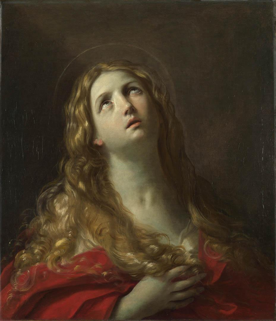 Saint Mary Magdalene - A italian baroque guido reni art wallpaper
