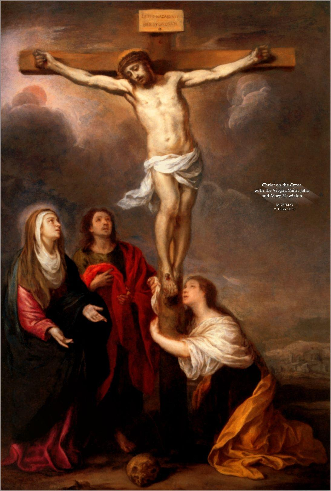 Mary Magdalene | Crucifixion with St. Mary Magdalen | Bible Art ...
