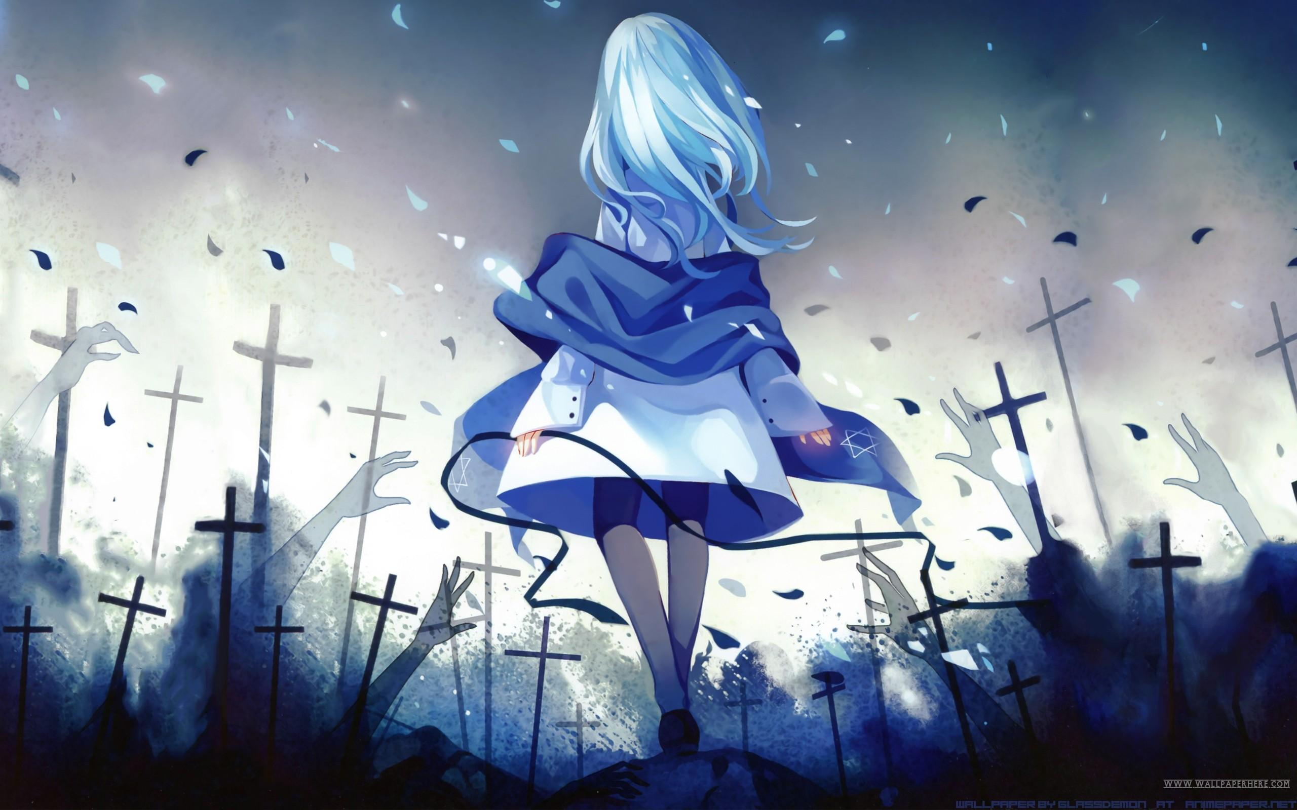 Blue Hair Anime Girl Wallpapers Wallpaper Cave