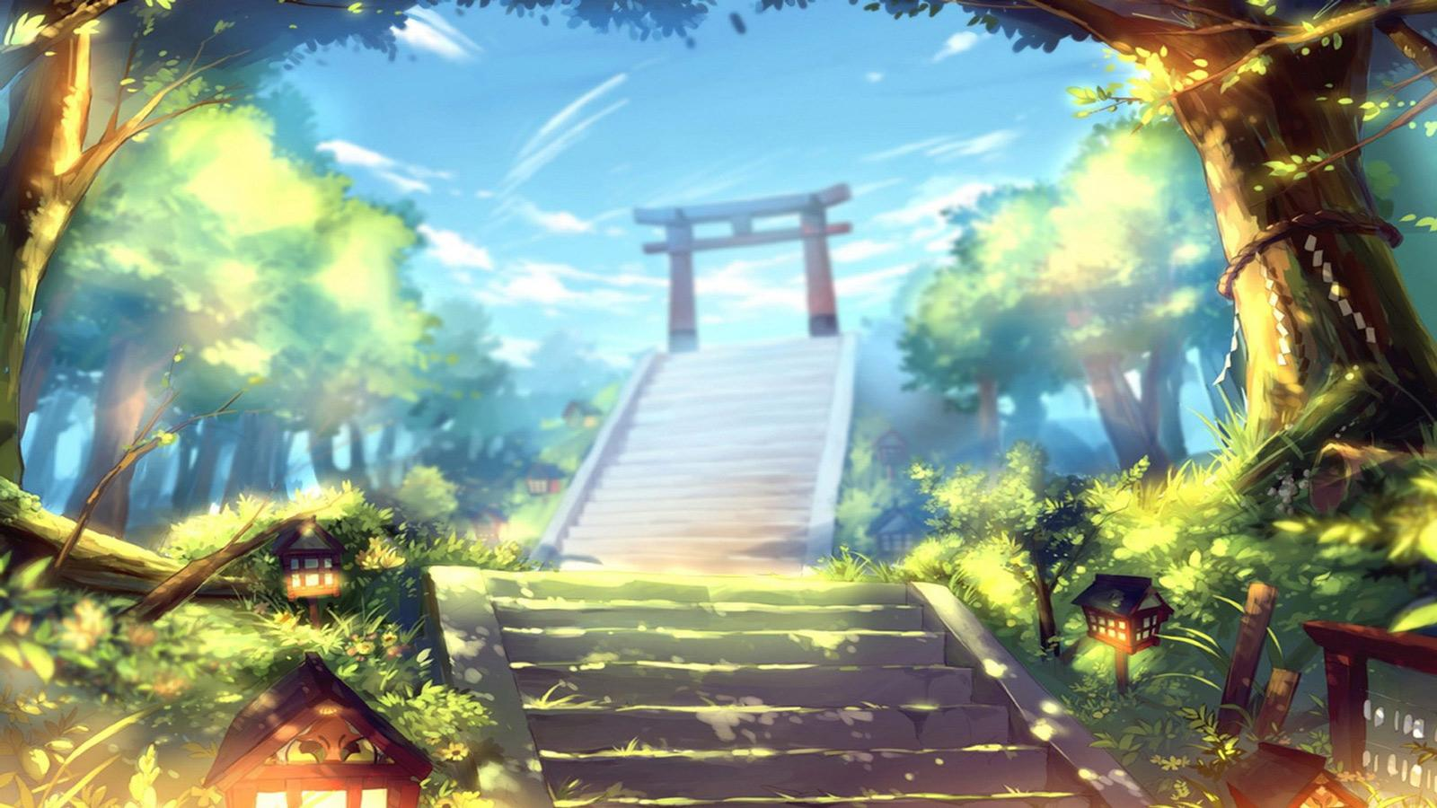 Torii Gate Anime Manga Artwork Wallpapers