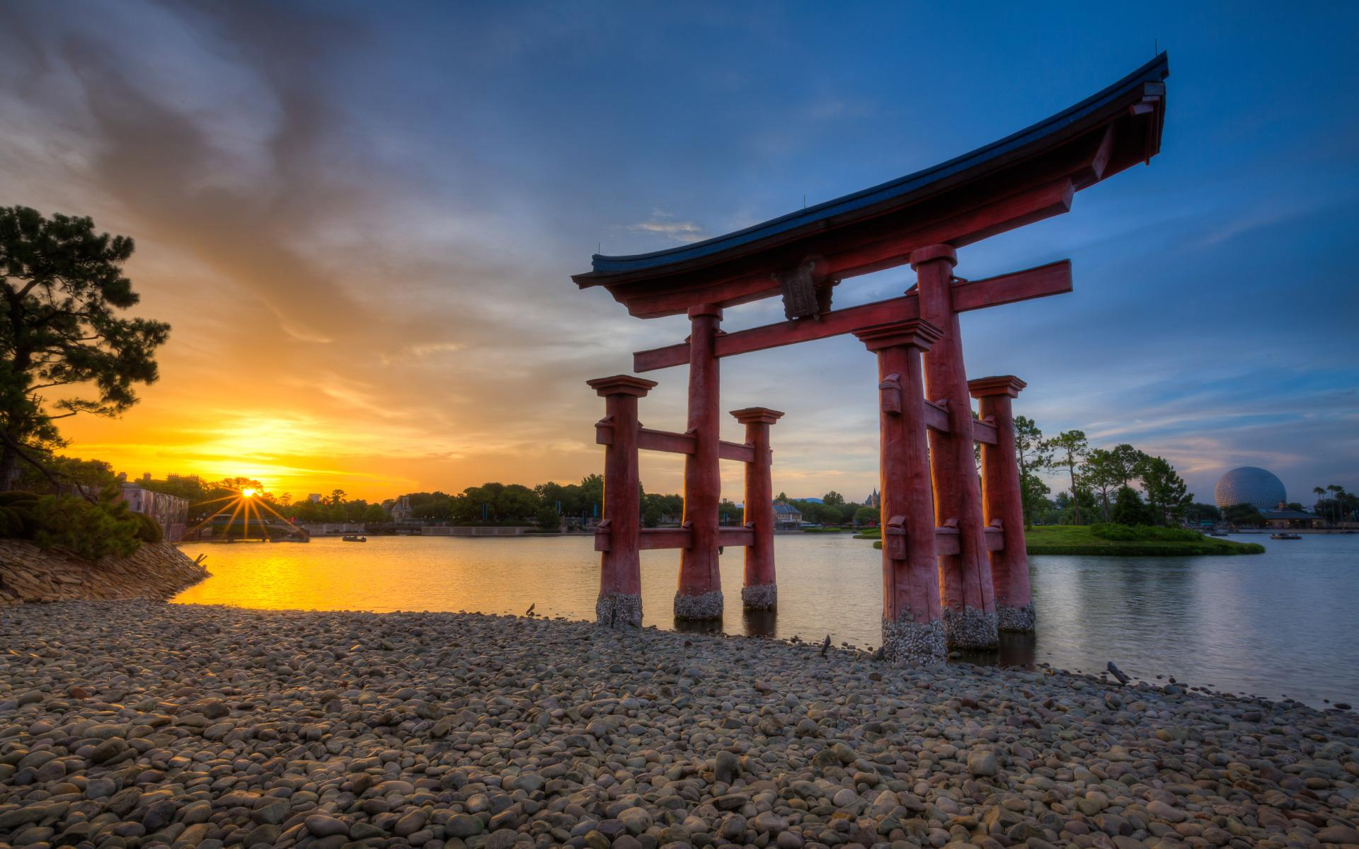 The Torii Gate at the Epcot Japan Pavilion, Walt Disney World