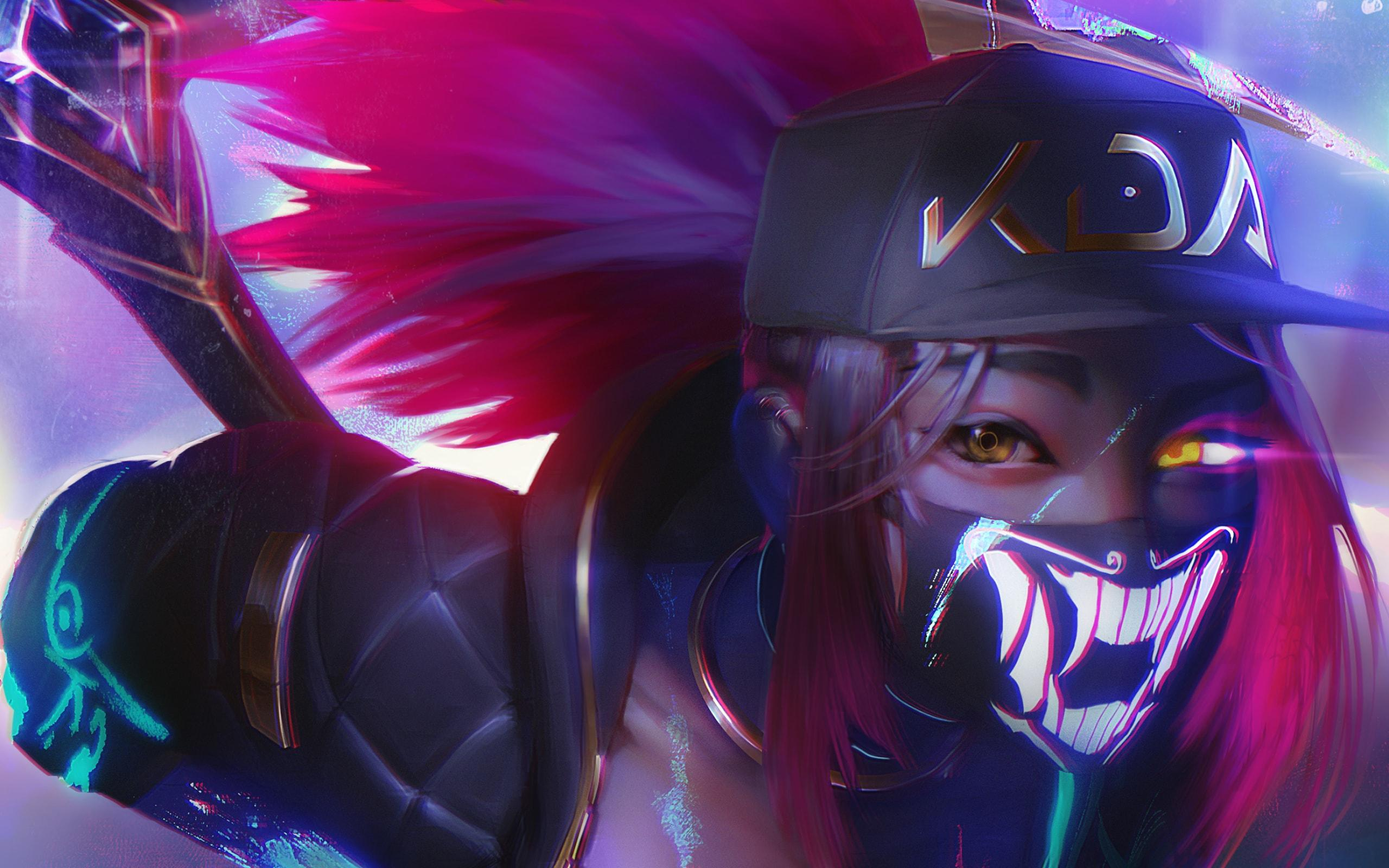 Wallpapers Akali, League Of Legends, Pink Hair Desktop Picture