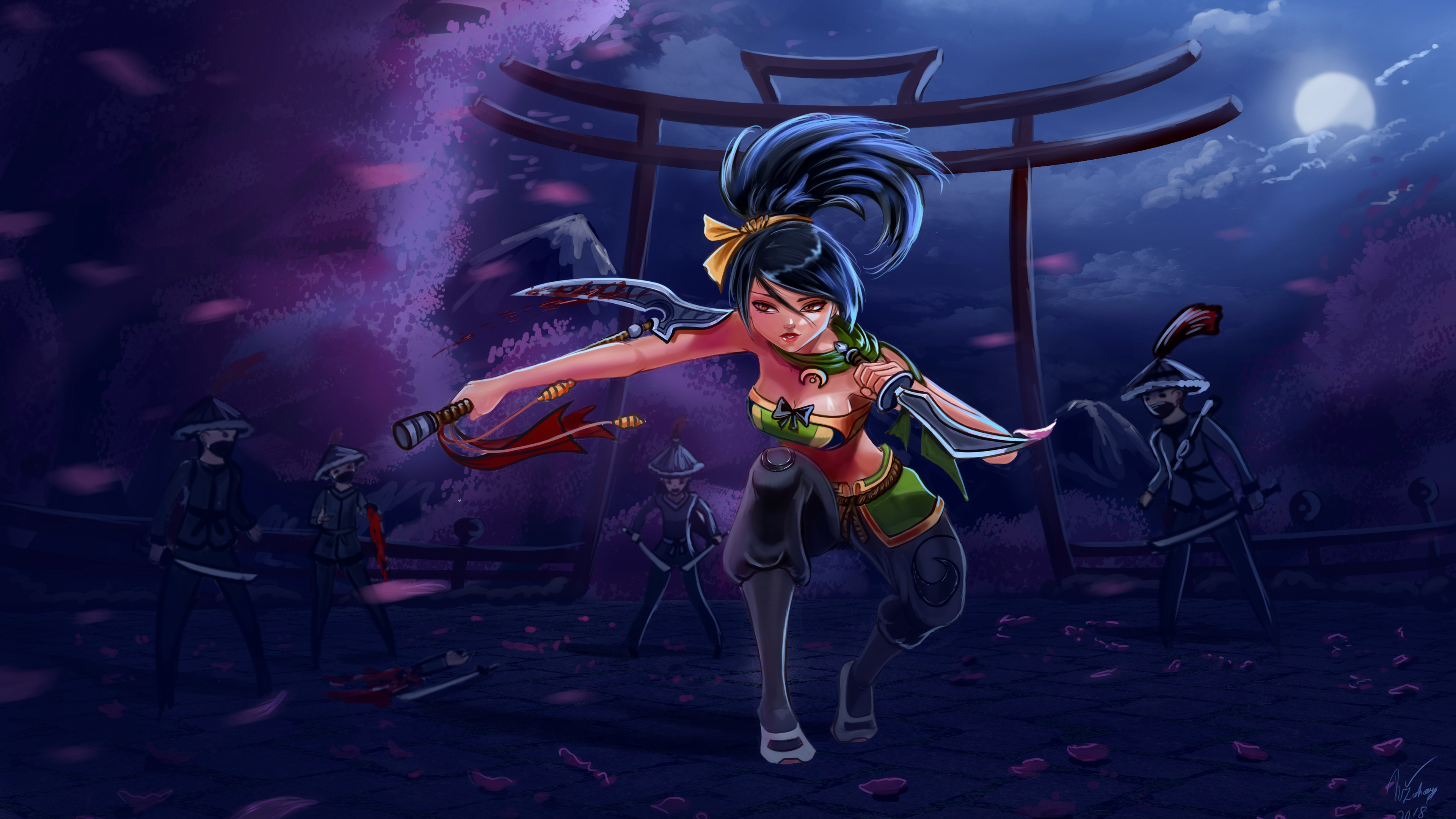 Wallpapers 4k Akali League Of Legends Game 4k