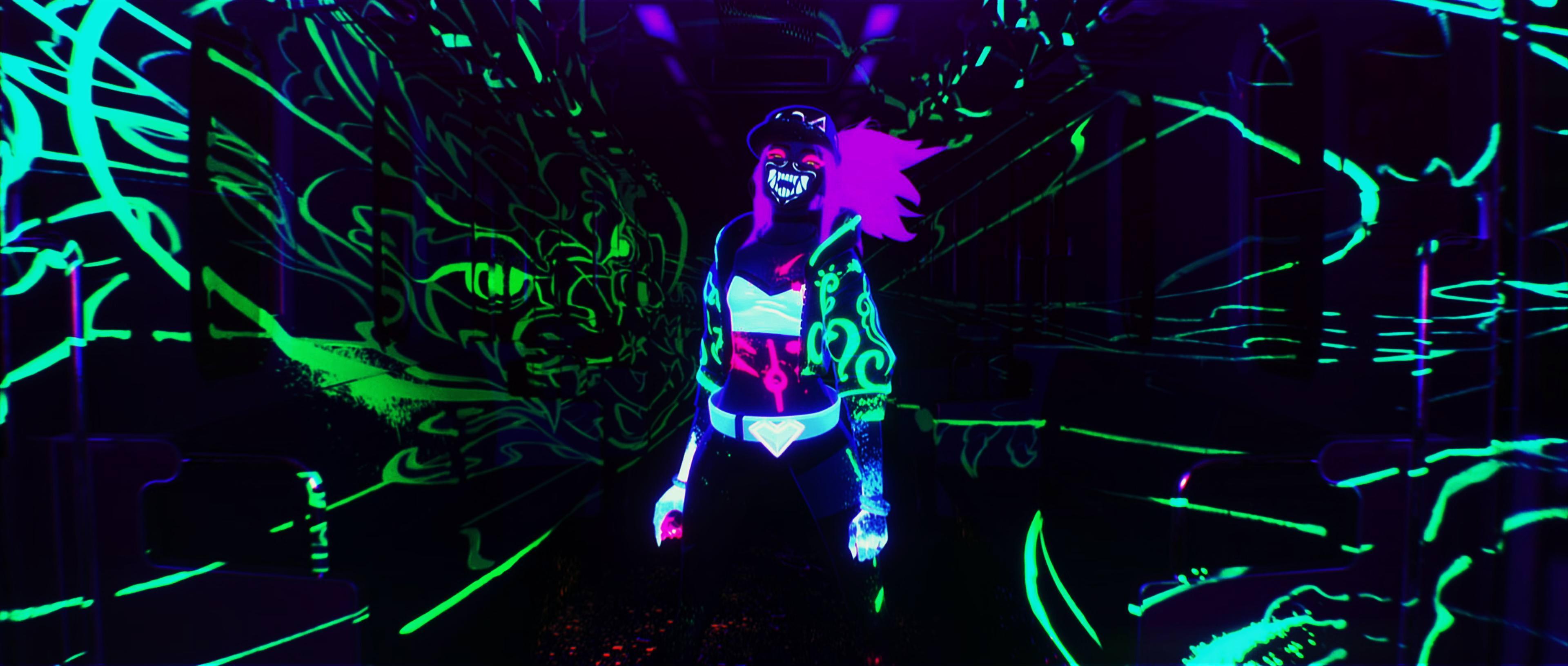 Kda Akali Neon Wallpapers Wallpaper Cave