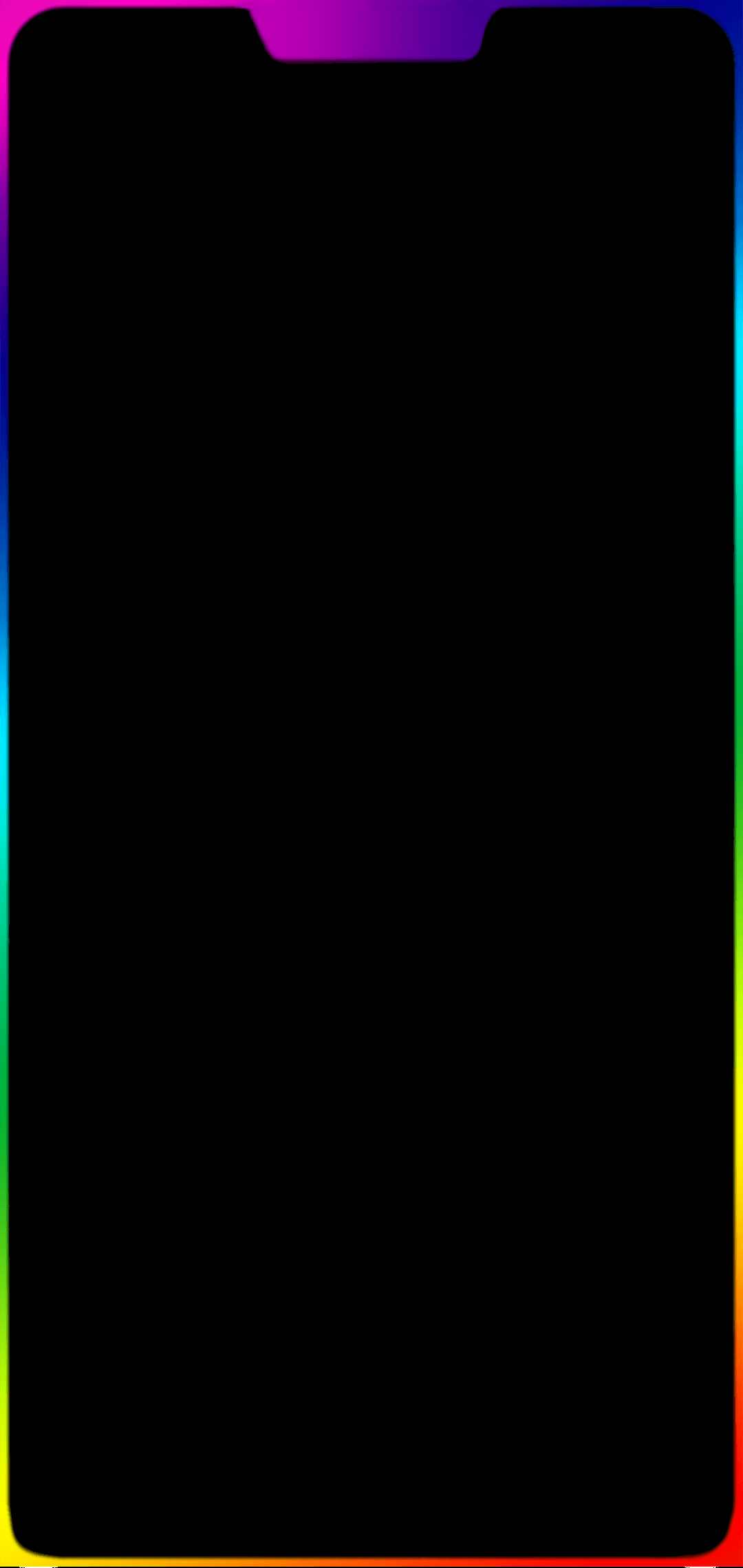 Iphone 11 Rainbow Border Wallpaper