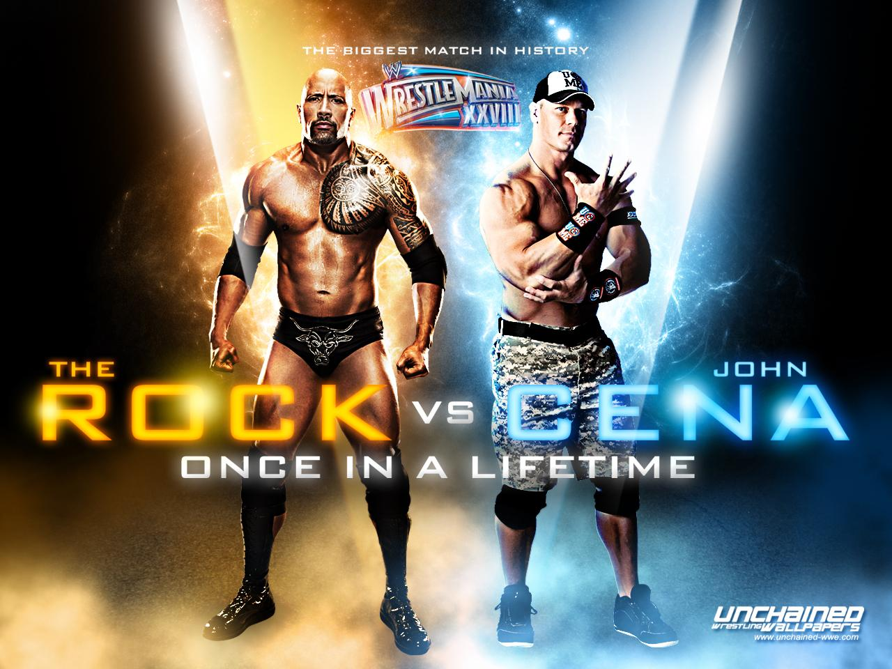 WWE image Wrestlemania 28:The Rock vs John Cena HD wallpapers and