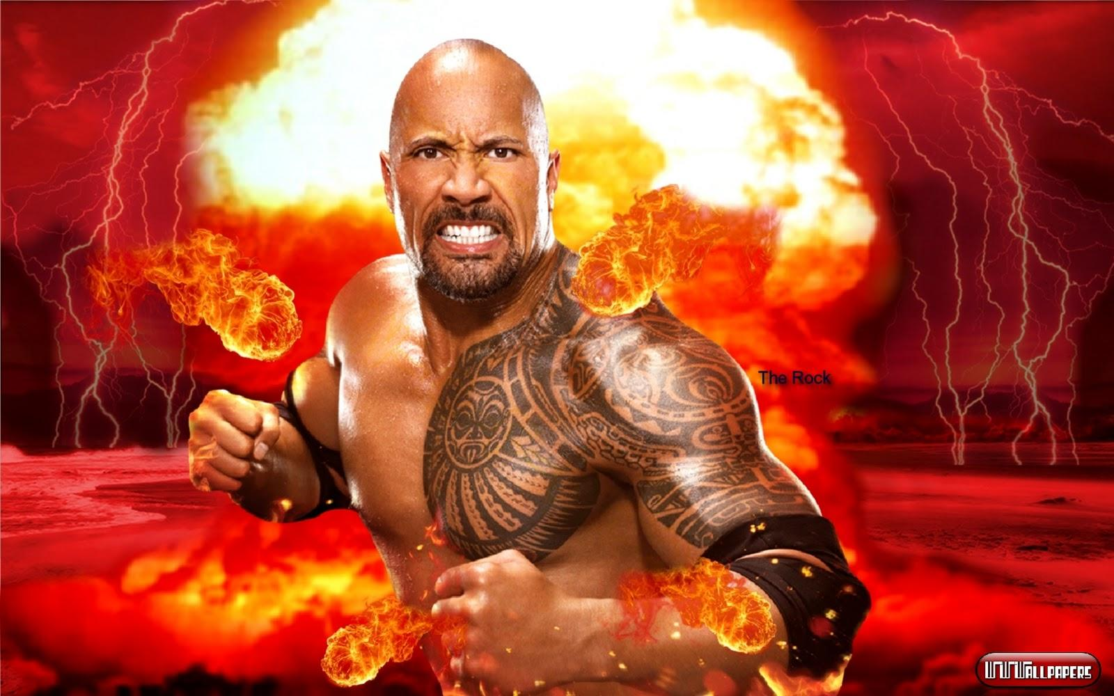 the rock wallpapers wwe