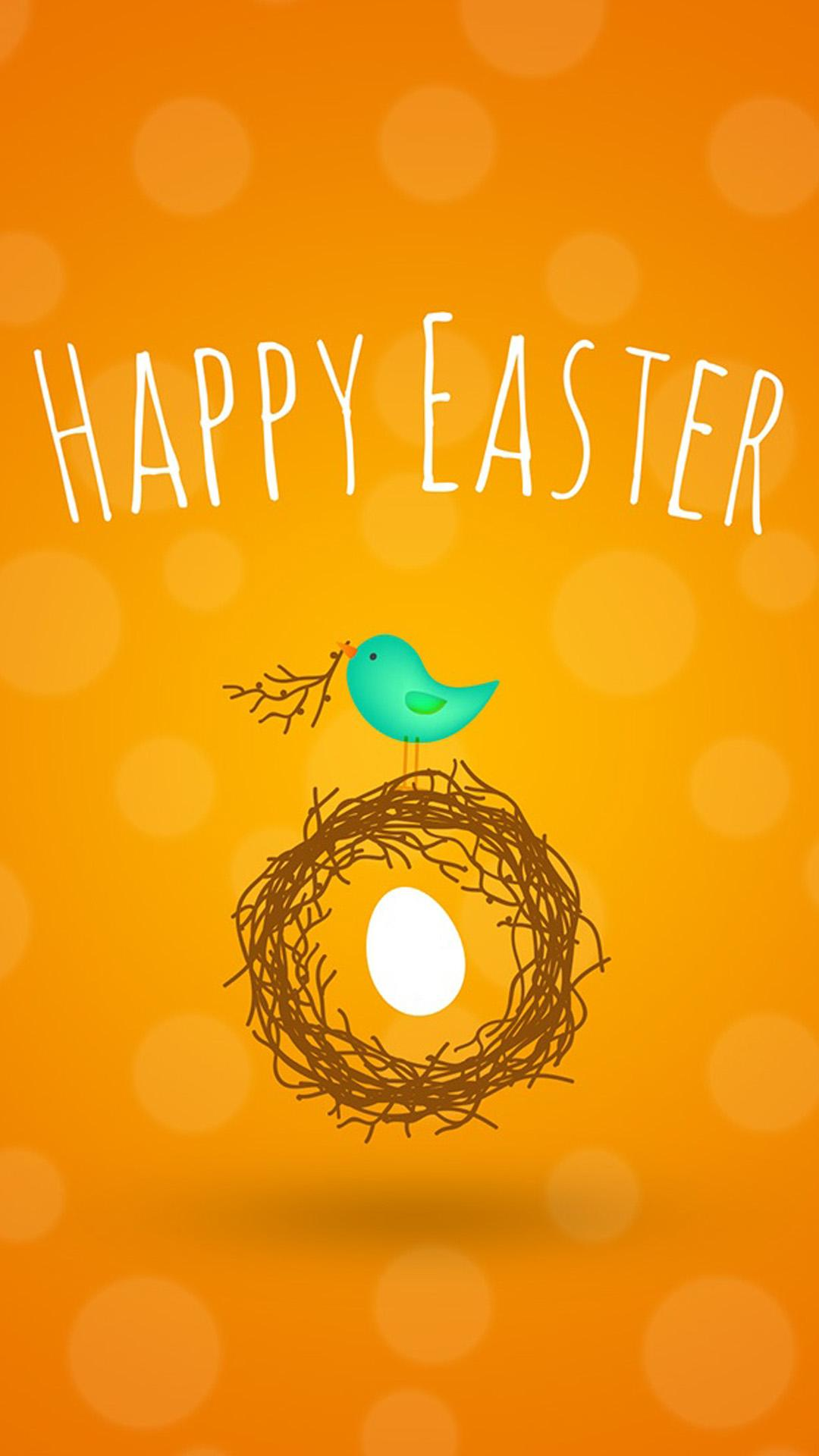Happy Easter Cookoo Nest | Mobile Wallpaper | Phone Background