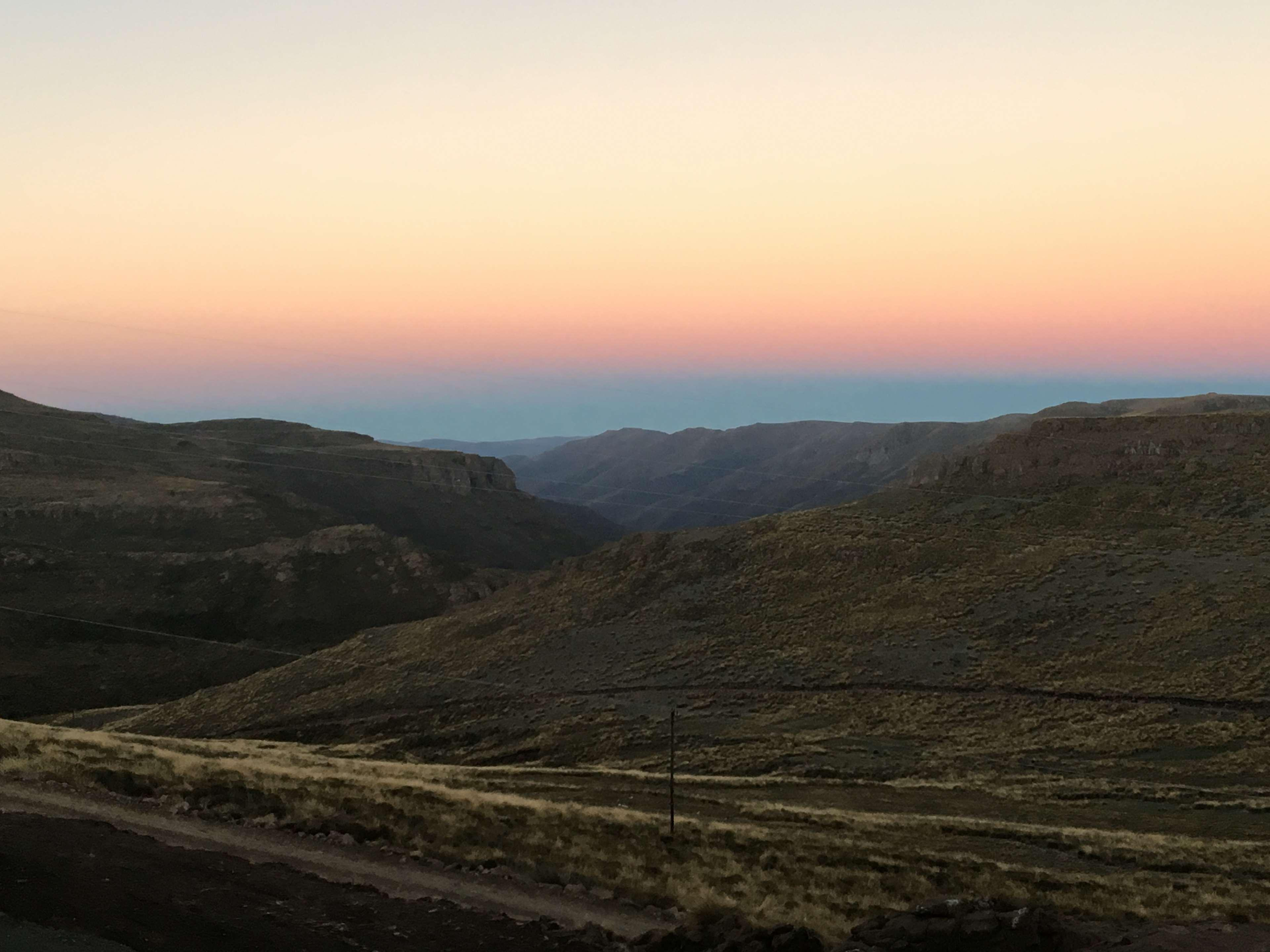 lesotho, mountains, shadows, sunrise, valley, valleys 4k wallpapers